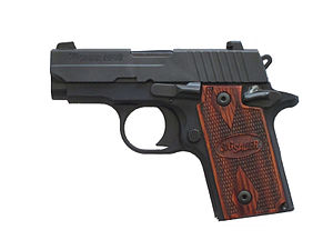 A P238 pistol chambered for .380 ACP by Sig Sauer