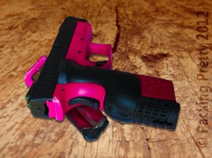 Pink Gun on Wood